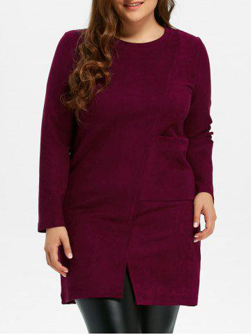 Fancy Plus Size Furcal Long Sleeve Fitted Dress