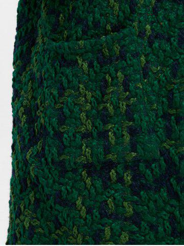 Hot Plus Size Space Dyed Chunky Cardigan - ONE SIZE GREEN Mobile