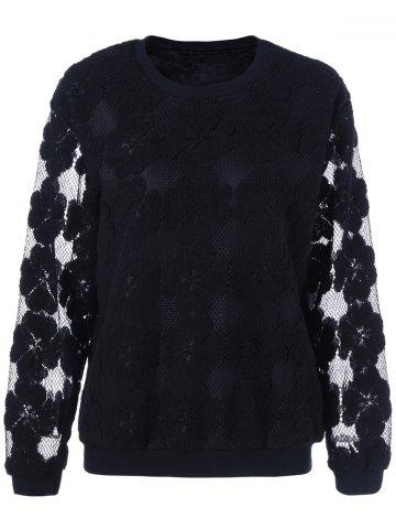 Affordable Plus Size Lace See Thru Sweater