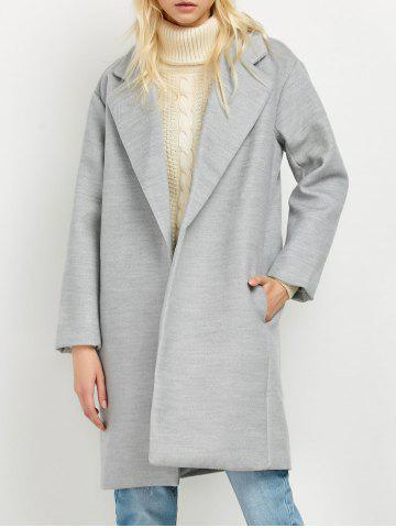 Outfit Lapel Pockets Wool Blend Coat