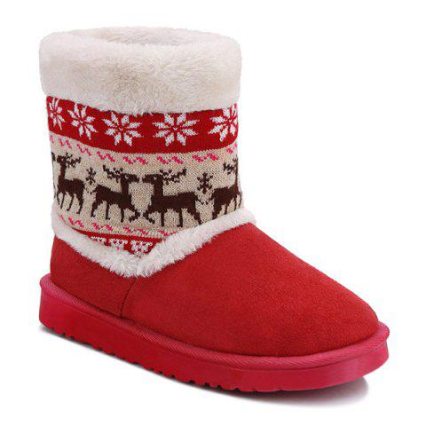 Shop Christmas Knit Insert Snow Boots