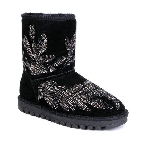 Best Beaded Rhinestone Ankle Boots