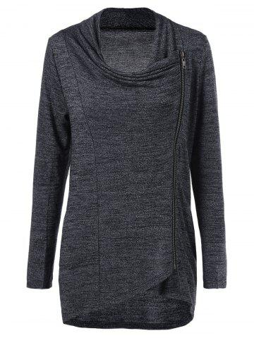 Outfit Side Zip Knitwear MOUSE GREY XL