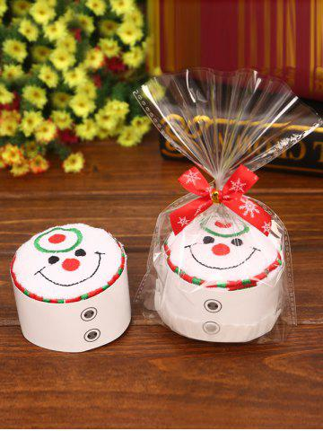 Unique Christmas Decorating Supply Best Gift Snowman Pattern Cupcake Towel - WHITE  Mobile