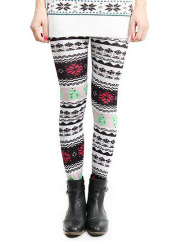 Fancy Snowflake Christmas Skinny Leggings