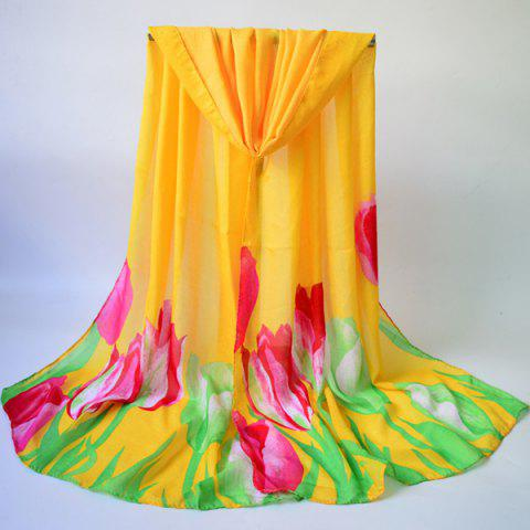 Outfits Breathable Tulip Print Shawl Wrap Scarf
