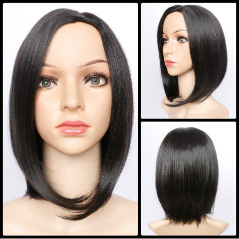 Shops Medium Side Parting Glossy Straight Bob Synthetic Wig BLACK