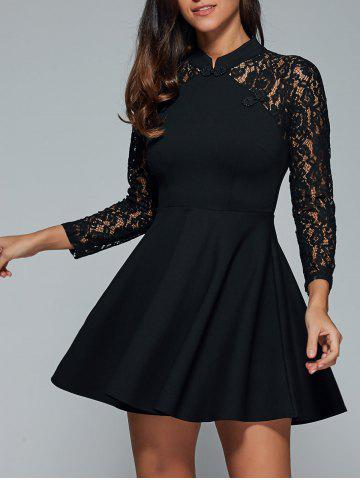Shop Lace Insert Short Flare Party Prom Dress