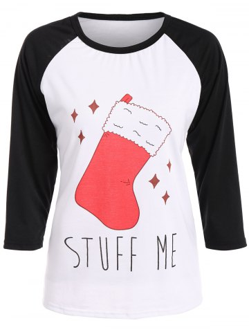 Store Graphic Christmas Stock Print T-Shirt WHITE 2XL