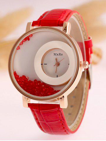 Outfits Artificial Leather Drift Sand Watch