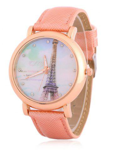 New Rhinestone Eiffel Tower Quartz Watch