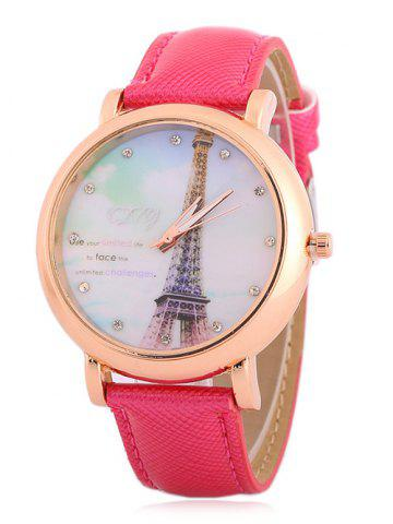 Hot Rhinestone Eiffel Tower Quartz Watch