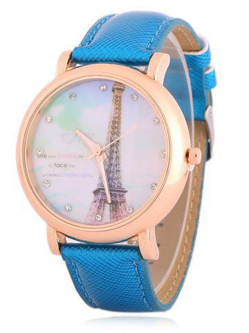 Shops Rhinestone Eiffel Tower Quartz Watch BLUE