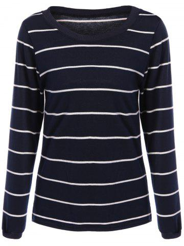 Store Slimming Long Sleeve Striped T-Shirt