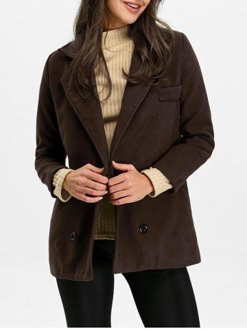 Affordable Back Slit Pea Coat