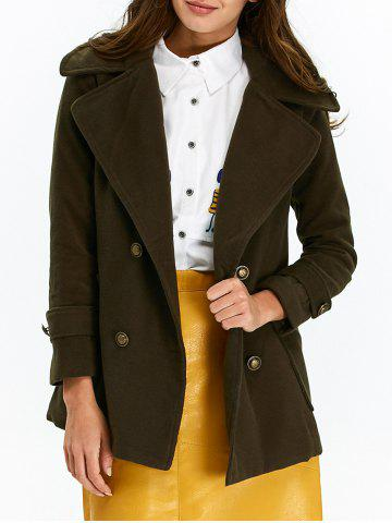 Buy Lapel Double Breasted Pea Coat