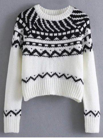 Shops Jacquard Knit Cropped Sweater