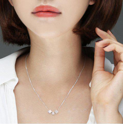 Chic Cube Pendant Necklace SILVER