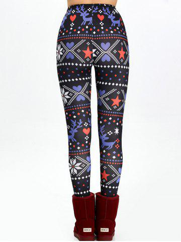 Outfits Christmas High Waisted Flocking Leggings - XL BLACK Mobile