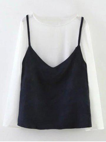 Online Long Sleeve Faux Layered Top