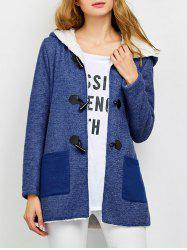 Hooded Wool Blend Duffle Coat -