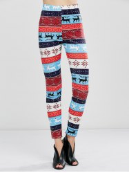 Christmas Fawn Print Leggings - LITTLE FAWN XL
