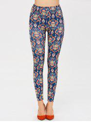 High Waisted Tribal Printed Skinny Pants