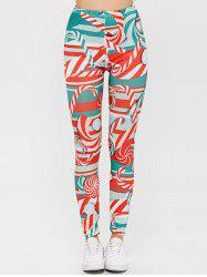 High Waisted Candy Cane Skinny Pants