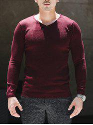 Slim Fit V Neck Pullover Knitwear