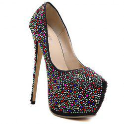 Platform Rhinestoned Stiletto Heel Pumps