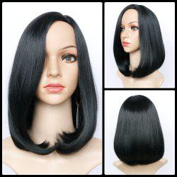 Short Side Parting Straight Bob Haircut Synthetic Wig