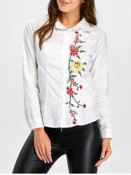 Fitting Floral Embroidered Shirt -