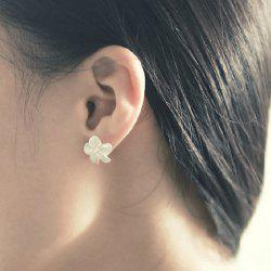 Flower Shape Fake Crystal Earrings