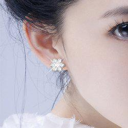 Fake Diamond Snowflake Stud Earrings