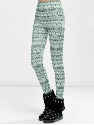 High Waist Elk Print Tight Christmas Leggings