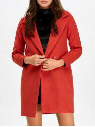 Lapel Double Breasted Pocket Coat -