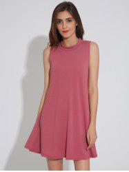 Sleeveless Casaul Swing Plain Dress Fashion -