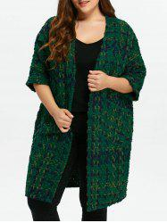 Plus Size Space Dyed Chunky Cardigan