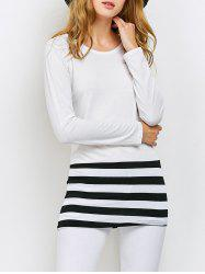 Striped Color Block Tee -