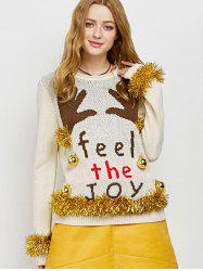 Embellished Christmas Sweater with Bells