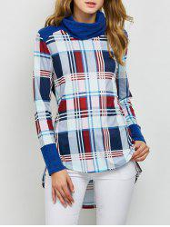 High Low Hem Plaid T-Shirt