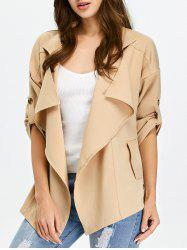 Open Front Drop Shoulder Draped Jacket