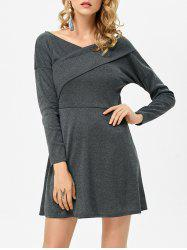 Backless Criss Cross Bandage Casual Jersey Knit  Dress