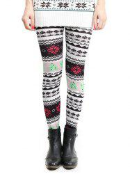 Snowflake Christmas Skinny Leggings -