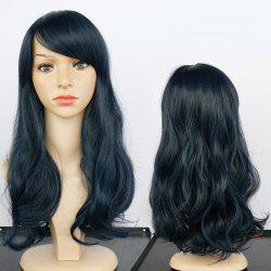 Long Side Bang Fluffy Wavy Synthetic Wig