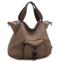 Buckle Strap Canvas Handbags