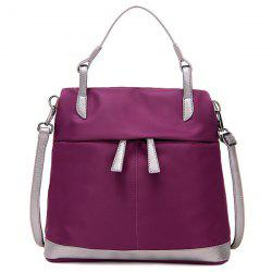 Waterproof Nylon Crossbody Bag - VIOLET