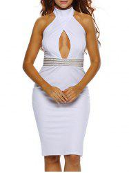 Halter Cut Out Backless Bodycon Dress -