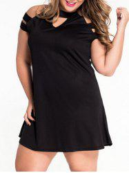 Keyhole Neck Cut Out Plus Size Dress