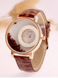 Artificial Leather Drift Sand Watch
